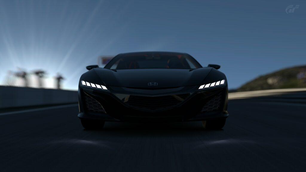 Honda NSX az éjszakában